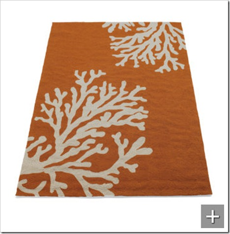 Coral Area Rug