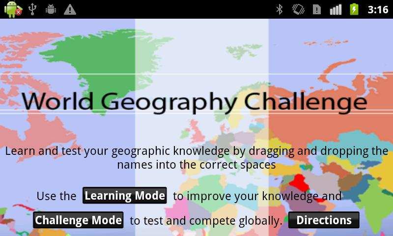 World Geography Challenge - screenshot