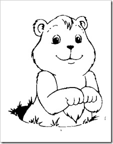 groung hog coloring pages - photo#5