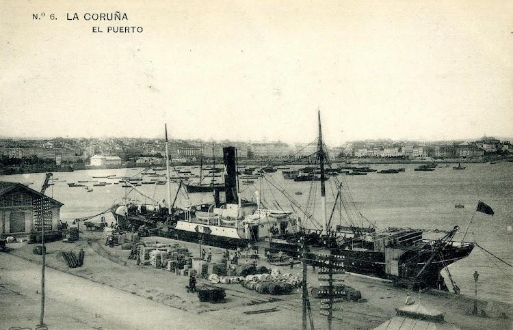 Coruña. El CABO SACRATIF en estado de origen. Postal.JPG