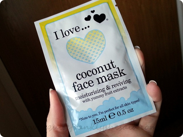 I Love Cosmetics Coconut face mask