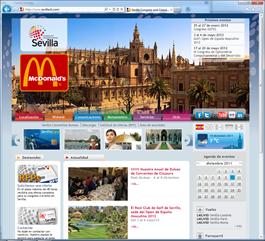 """Sitio web alojado en Adzure con publicidad. Pulsar para verlo """"en vivo""""."""