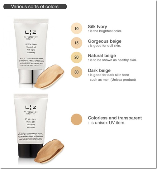 Review Swatch Liz UV Protection Color Veil In 15 Gorgeous Beige