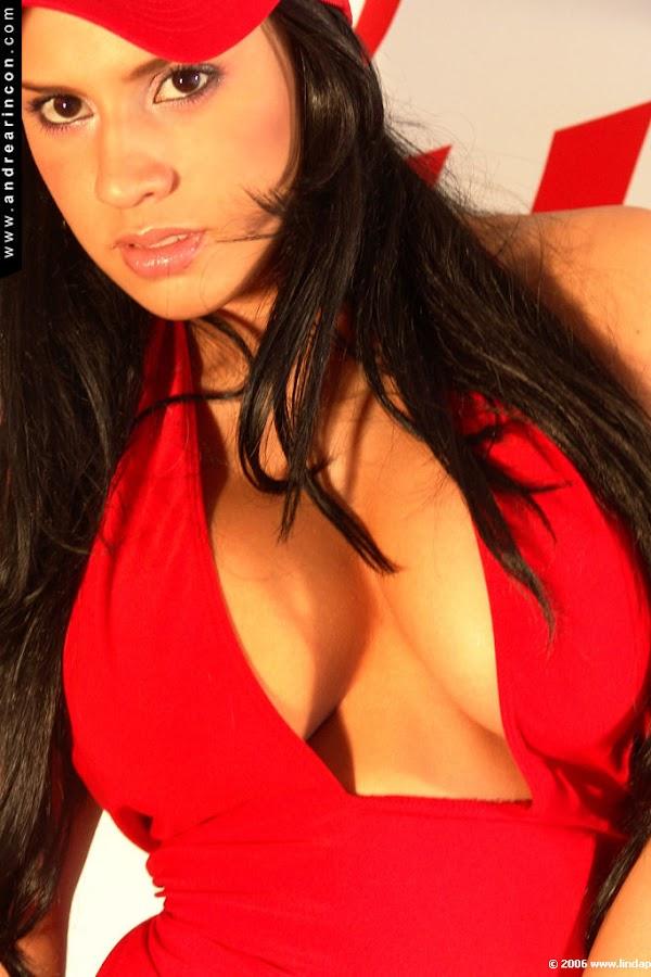 Andrea Rincon, Selena Spice Galeria 55 : Vestido Rojo Y Tanga Roja – Andrearincon.com