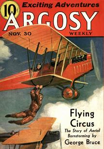 Cover of Argosy Weekly magazine, 30 November 1935 issue