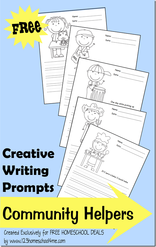 creative writing prompts: community helpers