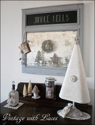 Christmas Decor - Chalkboard Mirror
