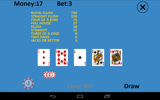 Solitaire Video Poker