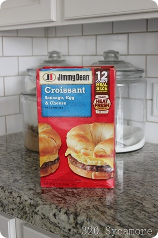 jimmy dean sausage egg cheese croissant breakfast sandwiches