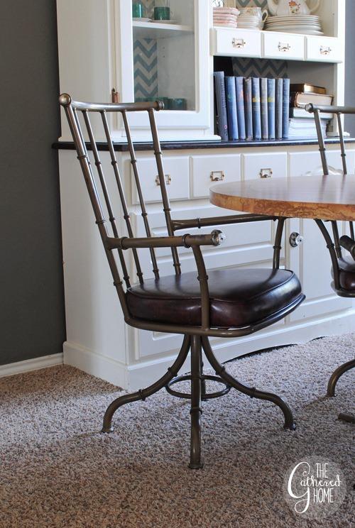 Faux Bamboo Metal Swivel Chairs10