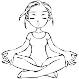 YOGA COLORING PAGES