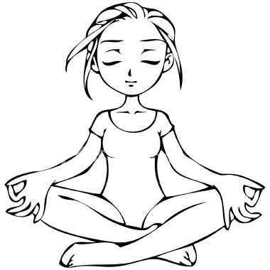 Yoga coloring pages for Yoga coloring pages