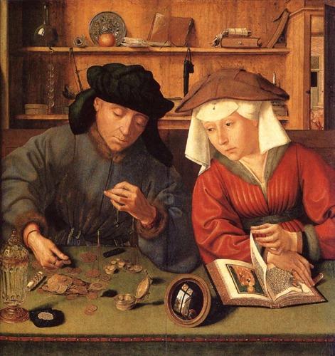 O cambista e sua mulher 1514 Quentin Matsys big
