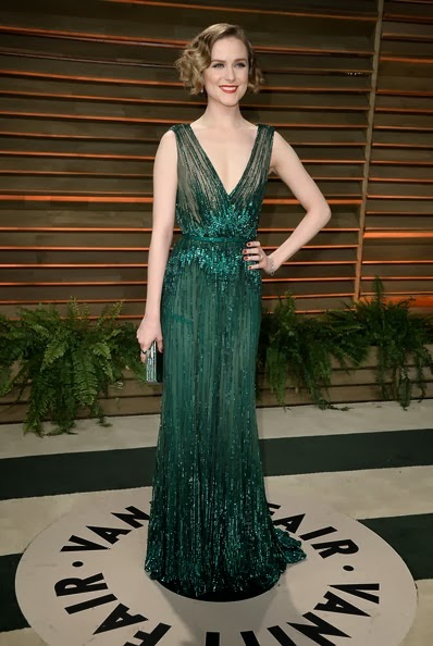Evan Rachel Wood attends the 2014 Vanity Fair Oscar Party