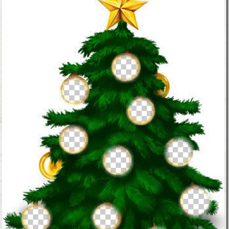 Generador árbol de Navidad con fotos