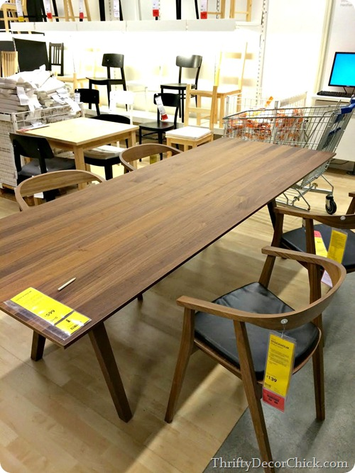 long wood table ikea