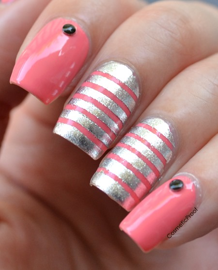 striping nail art
