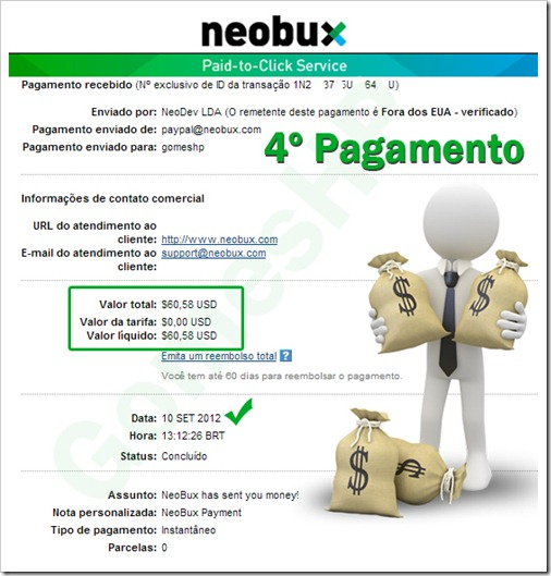 4º pagamento Neobux
