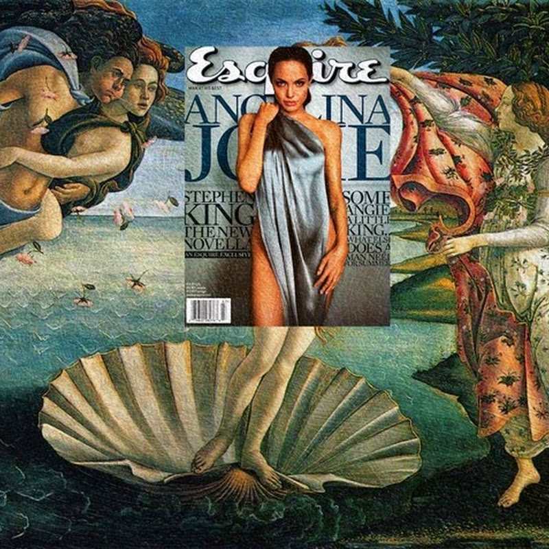 Modern Magazine Covers Superimposed on Classic Paintings