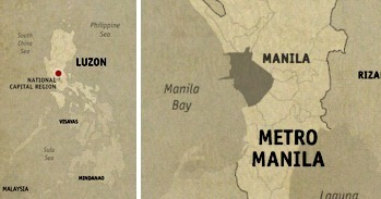 Location Map Manila