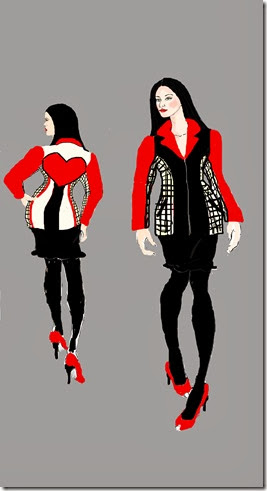 front and back febuary coat illustration view 3