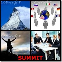 SUMMIT- 4 Pics 1 Word Answers 3 Letters