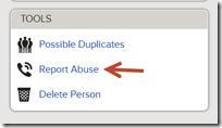 报告滥用链接在工具框中