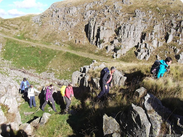 climbing out of holwick scar