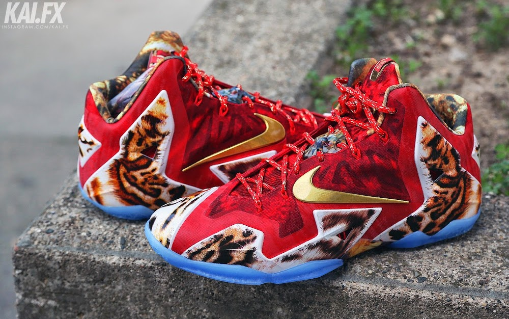cheap for discount e1daa 09aed ... James Wears Nike LeBron 11 2K14 to Celebrate Miami8217s Win ...