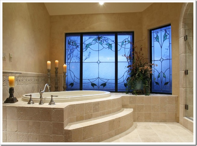 Blue-Windows-Cream-Wall-Amazing-Bathrooms-with-Candles-915x640