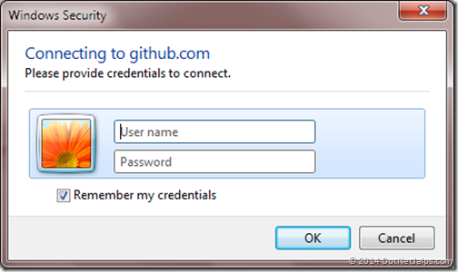 username-password-git-hub