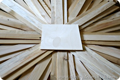 how to make a DIY sunburst mirror