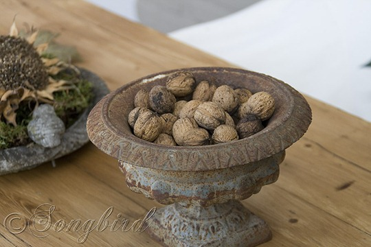 Fall Outside Decoration Walnuts Urn