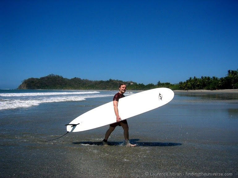 Laurence surfboard beach Costa Rica