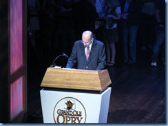 9111 Nashville, Tennessee - Grand Ole Opry radio show - radio announcer