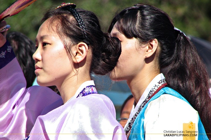 Korean Ladies at Baguio's Panagbenga Float Parade