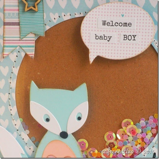 cafecreativo - craft asylum - baby sheker card - scrapbooking - scrap - sizzix big shot - fustelle