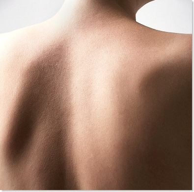 clean back of a woman