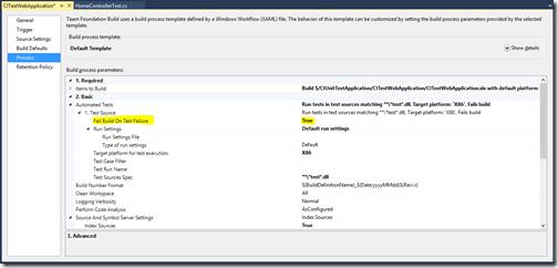 unit-test-setting-build-definition-continious-integration