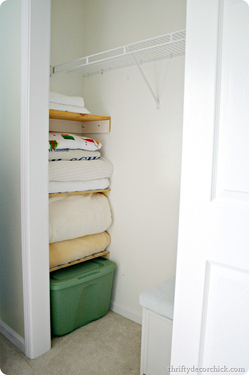 using wasted space in a closet