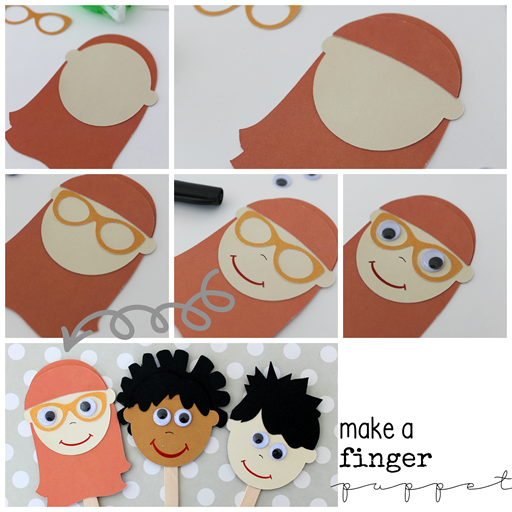 make a finger puppet GingerSnapCrafts.com #kidcraft