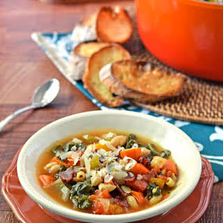 Minestrone Soup with Butternut Squash, Kale and White Beans.