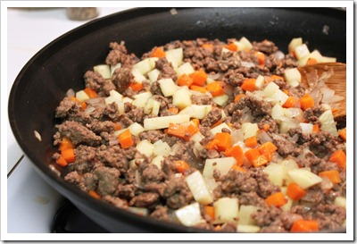 Beef picadillo chiles rellenos