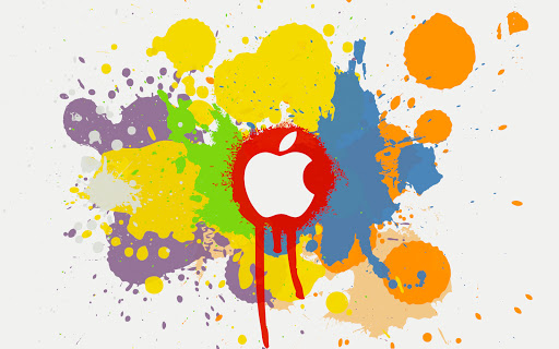 Colors Apple Logo Wide