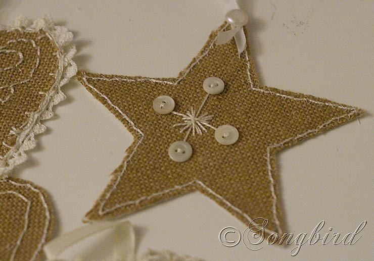 Songbird Burlap Ornaments 5