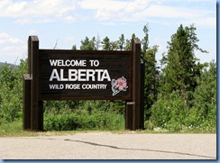 1532 Alberta Hwy 6 North - Waterton Lakes National Park - Welcome to Alberta sign