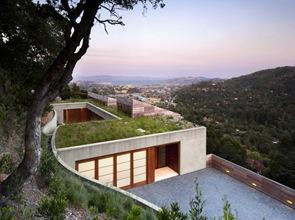 vegetacion en techo de casa sostenible