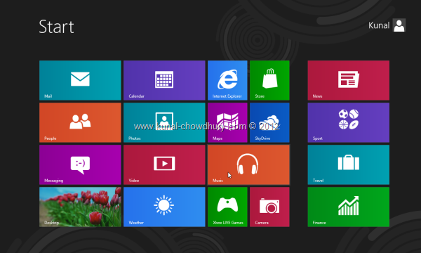 Win 8 Installation Experience - Start Screen