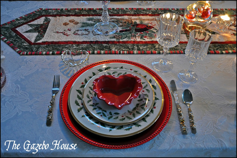 Valentines Day dinner table 010