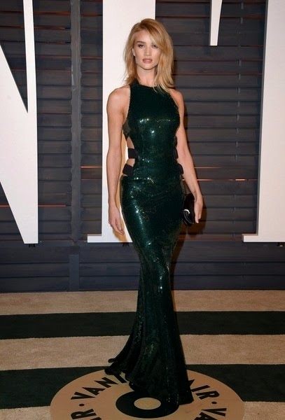 Rosie Huntington-Whiteley 2015 Vanity Fair Oscar Party